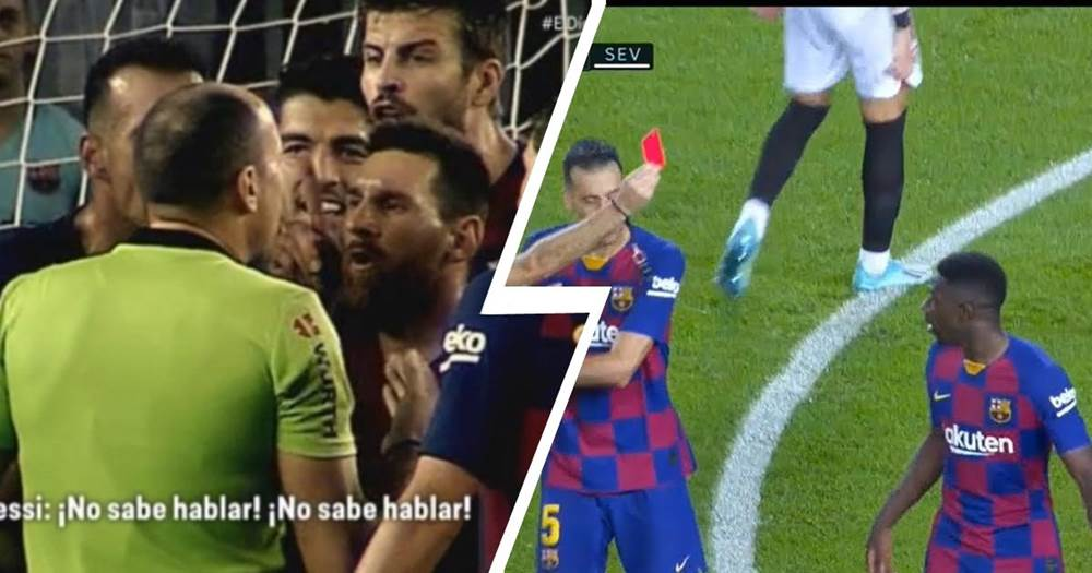 How Did Messi Try To Protect Dembele From The Red Card Mainsportbets